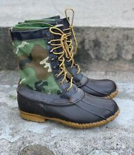 Vtg Cabelas Duck Boots Gore Tex Camo Lacrosse USA Made 100%AUTHENTIC US9 Snow