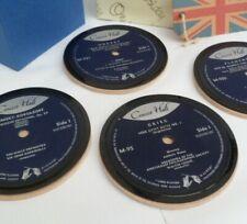 More details for *new* bnib drinks coasters vintage concert hall classical original vinyl records
