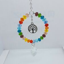 Sun Catcher Rainbow Glass Beads Tree Of Life Charm Handmade