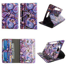 """TABLET CASE FOR 8 INCH 8"""" UNIVERSAL FOLIO STANDING COVER PURPLISH PAISLEY"""