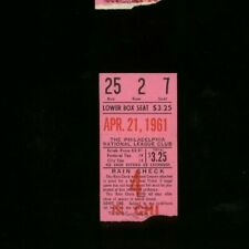 4-21-1961 Chicago Cubs @ Philadelphia Phillies Baseball Ticket