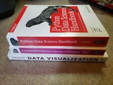Python Data Science and Machine Learning Book Lot - Vanderpool, Guido, Healy