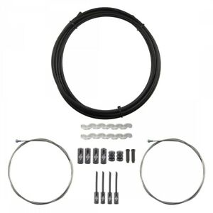 Origin8 Slick Compressionless Road Brake Cable/Housing Kit Front and Rear Black