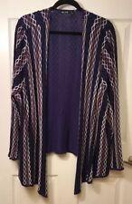 Nic & Zoe Women's Plus Size 3X Open Cardigan Sweater Blue Brown Black White NEW