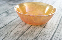 Vintage Indiana Weavetex Carnival Glass Bowl