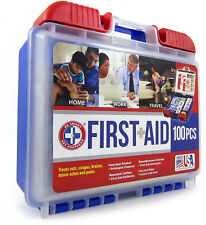 First Aid Kit Clean Treat Protect Home Office Vehicle Camping Sports Use Health