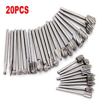20pcs/Set HSS Routing Wood Rotary Milling Rotary File Cutter For the rotary tool