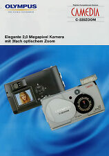 Prospekt Olympus Camedia C-220 Zoom Digitalkamera 8/02 2002 Broschüre brochure