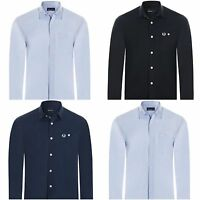 NEW Fred Perry Button Down Dress Shirt For Men Slim Fit Sizes S-XL Authentic NWT