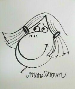 "Signed 18"" x 24"" Marc Brown Arthur Original Sketch Art Very Good Cond"