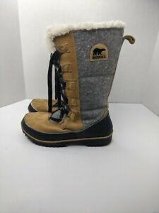 Sorel Tivoli High II Boots In Peatmoss NL2094-213 Women's Size 9.5 Winter Snow
