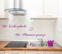 Mit Liebe gekocht...WandtattoKüche,Esszimmer,Spruch für die Wand,Sticker,