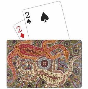 Tobwabba Aboriginal Art Plastic Coated Playing Cards - Male & Female Goannas
