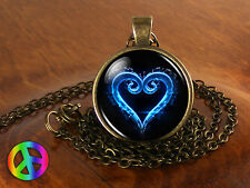 Kingdom Hearts Video Game Gamer Gaming Necklace Pendant Jewelry Art Gift Present