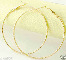 HOT New 9k Gold Filled Fashion Stylish Lady Ear Stud Hoop Earring 472