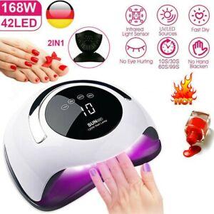 Nageltrockner Gel Dryer LED UV Lampe Profi Maniküre Lichthärtungsgerät 4 Timer