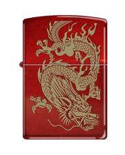 "Zippo ""Oriental Dragon"" Candy Apple Red Finish Lighter, 8894"