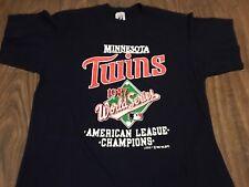True Vintage 1987 Minnesota Twins World Series Large T Shirt Fits Like Medium