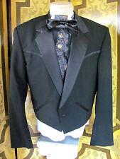 Vintage LORD WEST Fancy Black Formal Waist Jacket Western Look Sz38L