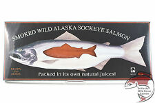 Wild Alaska Smoked Salmon Fillet Retort (Shelf-stable) Gift Box 16oz Traditional