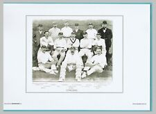 CRICKET  -  UNMOUNTED CRICKET TEAM PRINT - YORKSHIRE - 1895