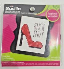 Bucilla SHOE ENVY counted cross stitch kit with STILETTO SHOE E1-1