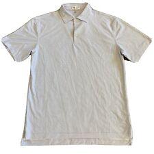 Men's Peter Millar Summer Comfort Short Sleeved Poly Stretch Polo Golf Shirt M