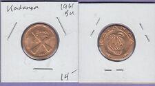 "Katanaga 1 Franc Copper Coin 1961 Brilliant Uncirculated Condition""Cross"""