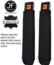Coutures violettes 2X Seat Belt Stalk Leather Covers Fits Jeep Wrangler YJ 87-90