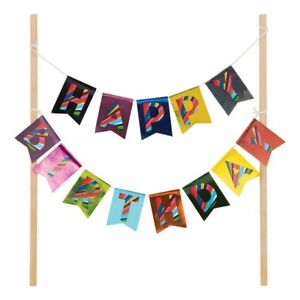 French Bull Birthday Design Jackie Shapiro Party Decoration Foil Cake Banner Kit