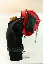 Vintage REI Backpack and Solid Rigid Frame Black and Red Padded Straps