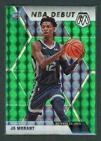 2019-20 JA MORANT PANINI MOSAIC NBA DEBUT GREEN ROOKIE RC #274