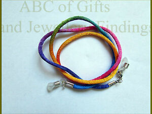Faux Silk Eye/ sun Glasses Rainbow Cord Holder / Necklace