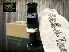 Rnt Rich-N-Tone Microhen Micro Hen Single Reed Mallard Duck Call Black Acrylic