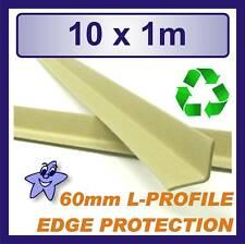 More details for cardboard edge protector 60mm x 60mm l profile  10 x 1m length