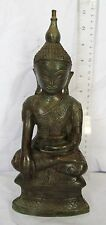 MAGNIFICENT! Shan Tai Yai Style Bronze Calling Earth To Witness Buddha 11""