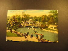 Band Stand Belle Isle Park, Detroit Mi. about 1920 used postcard