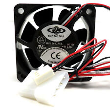 10x Top Motor DF126025SL 60mm x 25mm Low Speed cooling fan 3 & 4 pin connector