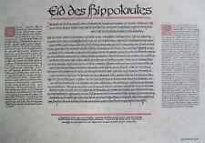 Plakat ,,EID DES HIPPOKRATES,, von G.Fraundorf, 07.06.1987, 42 x 30 cm