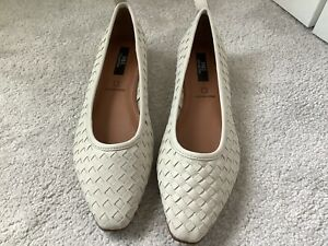Lovely Soft Woven Leather Flat Shoes, BNWT, Stone, 5.5, M&S £45 Originally