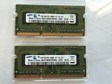 2GB (2x1GB) Samsung 1Rx8 PC3-8500S-07-10-ZZZ  M471B2873FHS-CF8 1015 2-1Gb Sticks
