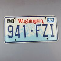 Washington State 1990 to 1998 Vintage License Plate 941-FZI Tab 2004 Boarder