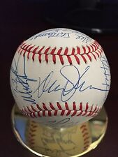 New York Mets Team Sign Bowl Davey Johnson Manager