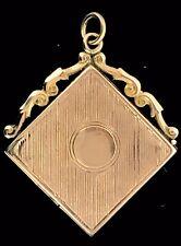 Antico 9CT Medaglione Pendente Oro Cased Remarkable Glassed Foto CIRCA1900 Raro