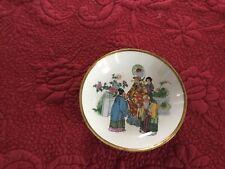 Antique Chinese Emperor Receiving Guest Garden Cloisonné Enamel On Copper Bowl