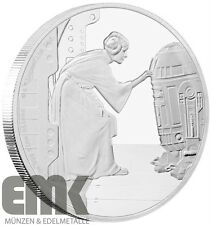Niue - 2 Dollar 2016 - Prinzessin Leia - 1 Oz Silber in Polierte Platte