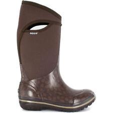 Botas de agua de mujer de color principal marrón