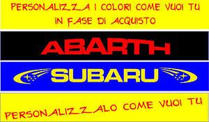 Adhesivo Banda Parasol Sintonización Racing Subaru Abarth Rally COD78
