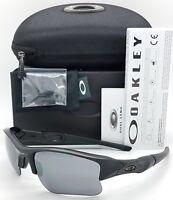 NEW Oakley Flak Jacket XLJ sunglasses Matte Black / BLK Iridium 24-434 AUTHENTIC