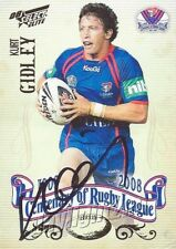 ✺Signed✺ 2008 NEWCASTLE KNIGHTS NRL Card KURT GIDLEY Centenary